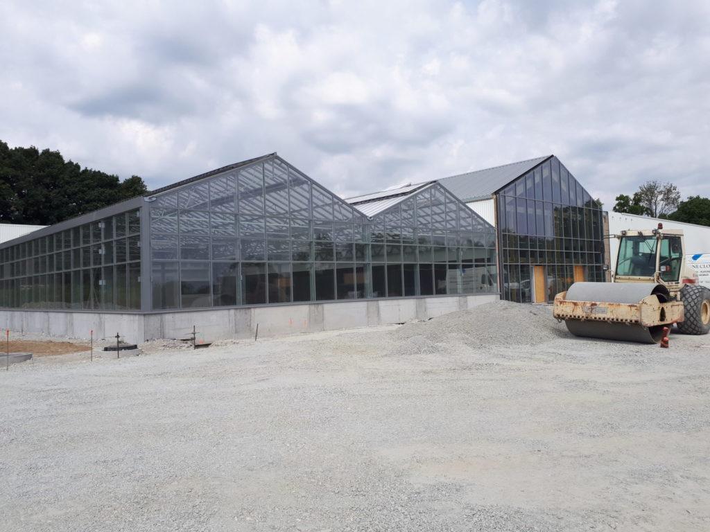 chantier construction batiment commerce jardinerie pontivy espace engineering bardage commercial retail morbihan bretagne ouest